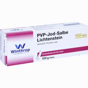 Abbildung von Pvp- Jod Salbe Lichtenstein  100 g