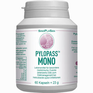 Abbildung von Pylopass Mono 200 Mg bei Helicobacter Pylori Kapseln 60 Stück