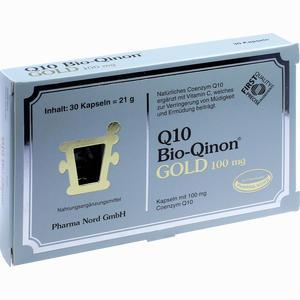 Abbildung von Q10 Bio- Qinon Gold 100mg Kapseln 30 Stück