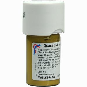 Abbildung von Quarz D20 Trituration 20 g