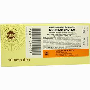 Abbildung von Quentakehl D6 Injektion  Ampullen 10X1 ml