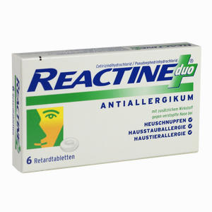 Abbildung von Reactine Duo Retardtabletten  6 Stück