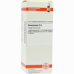 Abbildung von Reserpinum D6 Dilution 50 ml
