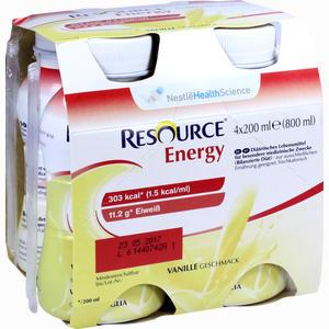 Abbildung von Resource Energy Vanille Fluid 4 x 200 ml