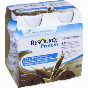 Abbildung von Resource Protein Drink Kaffee Fluid 4 x 200 ml