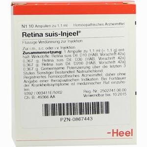 Abbildung von Retina Suis- Injeel Ampullen  10 Stück