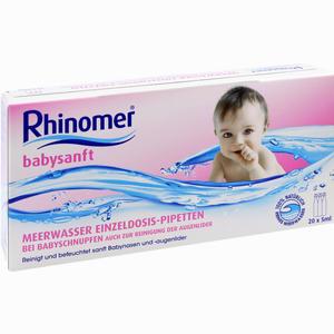 Abbildung von Rhinomer Babysanft Meerwasser 5ml Edp Lösung 20 x 5 ml