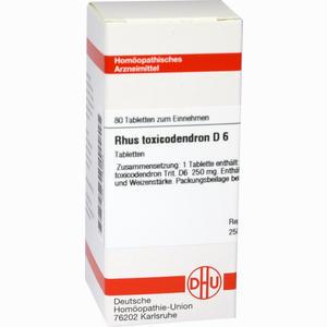 Abbildung von Rhus Toxicodendron D6 Tabletten 80 Stück