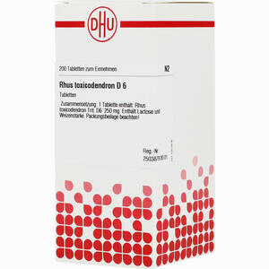 Abbildung von Rhus Toxicodendron D6 Tabletten 200 Stück