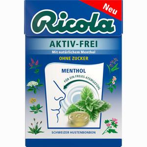 Abbildung von Ricola Aktiv- Frei Menthol Ohne Zucker Bonbon 50 g