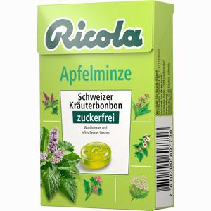 Abbildung von Ricola Apfelminze Kräuterbonbons Ohne Zucker Box  50 g