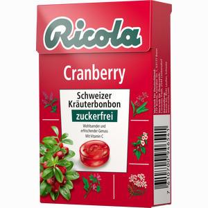 Abbildung von Ricola Cranberry Kräuterbonbons Ohne Zucker Box  50 g
