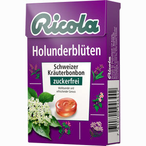 Abbildung von Ricola Holunderblüten Ohne Zucker Box Bonbon 50 g