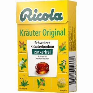 Abbildung von Ricola Kräuter Original Ohne Zucker Box Bonbon 50 g