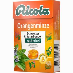 Abbildung von Ricola Orangenminze Kräuterbonbons Ohne Zucker Box  50 g