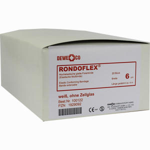Abbildung von Rondoflex Binde Weiss 4m X 6cm  20 Stück