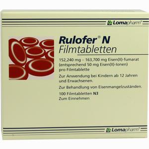 Abbildung von Rulofer N Filmtabletten  100 Stück