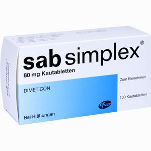 Abbildung von Sab Simplex 80mg Kautabletten  100 Stück