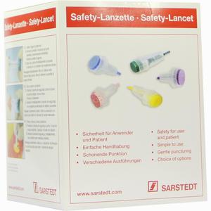 Abbildung von Safety- Lanzette 21g Normal Grün Einstechtiefe1.8mm Lanzetten 200 Stück