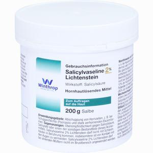 Abbildung von Salicylvaseline 2% Lichtenstein Salbe 200 g