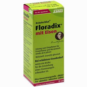 Abbildung von Salus Kräuterblut Floradix mit Eisen Tonikum  15 ml