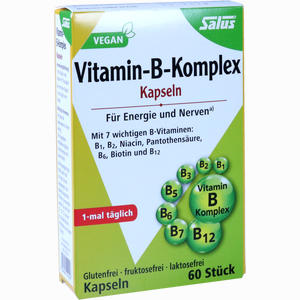Abbildung von Salus Vitamin- B- Komplex Vegetabile Kapseln  60 Stück