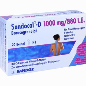 Abbildung von Sandocal- D 1000mg/880 I.e. Brausegranulat  20 Stück