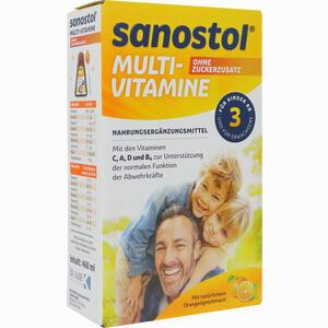 Abbildung von Sanostol Ohne Zuckerzusatz 460 ml