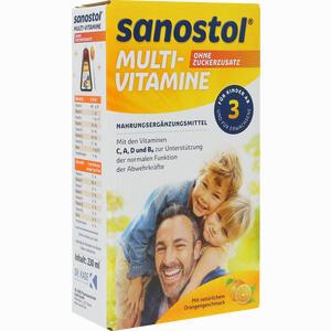 Abbildung von Sanostol Ohne Zuckerzusatz Saft 230 ml