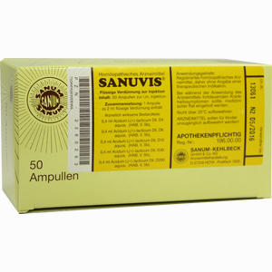Abbildung von Sanuvis Ampullen 50 x 2 ml