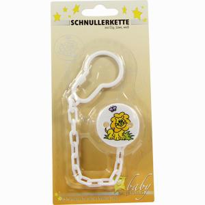 Abbildung von Schnullerkette Kunststoff mit Clip Löwe Weiß 1 Stück