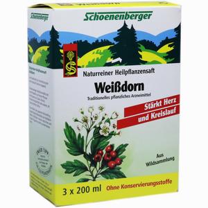Abbildung von Schoenenberger Heilpflanzensäfte Weißdorn Saft 3 x 200 ml