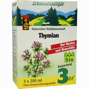 Abbildung von Schoenenberger Heilpflanzensaft Thymian  3 x 200 ml
