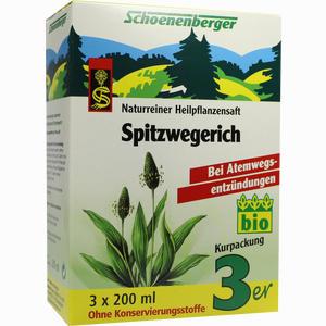 Abbildung von Schoenenberger Naturreiner Heilpflanzensaft Spitzwegerich  3 x 200 ml
