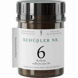 Abbildung von Schüssler Nr. 6 Kalium Sulfuricum D6 Tabletten 200 Stück