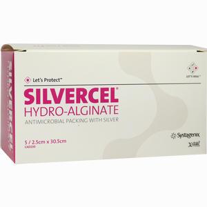 Abbildung von Silvercel Hydroalginat Tamponade 2. 5x30. 5cm Tpo  5 Stück