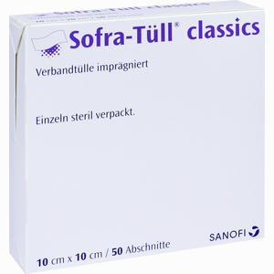Abbildung von Sofra- Tüll Classics Abschnitte 10x10cm Wundgaze 50 Stück