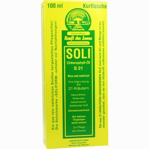 Abbildung von Soli Chlorophyll- Öl S21  100 ml
