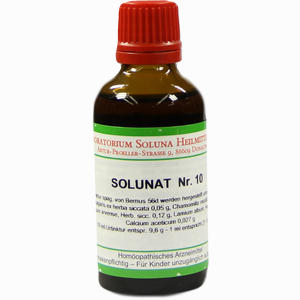 Abbildung von Solunat Nr.10 Tropfen 50 ml