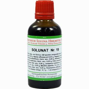 Abbildung von Solunat Nr. 19 Tropfen 50 ml