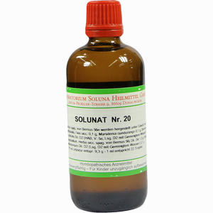 Abbildung von Solunat Nr. 20 Tropfen 100 ml