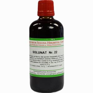 Abbildung von Solunat Nr. 22 Tropfen 100 ml