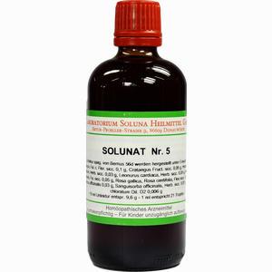 Abbildung von Solunat Nr. 5 Tropfen 100 ml