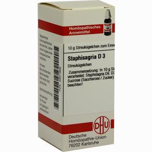 Abbildung von Staphisagria D3 Globuli 10 g