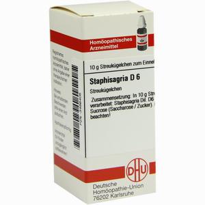 Abbildung von Staphisagria D6 Globuli 10 g