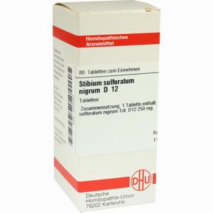 Abbildung von Stibium Sulfuratum Nigrum D12 Tabletten 80 Stück