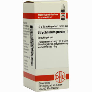 Abbildung von Strychninum Purum D10 Globuli 10 g