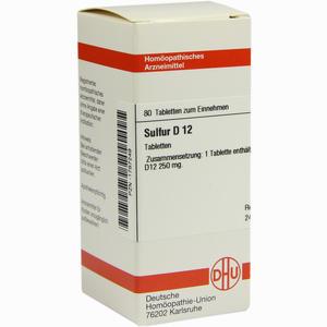 Abbildung von Sulfur D12 Tabletten 80 Stück