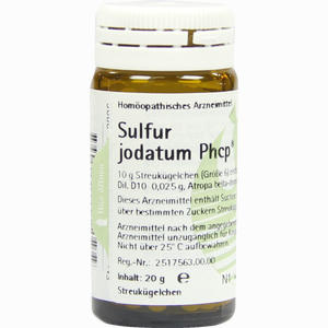 Abbildung von Sulfur Jodatum Phcp Globuli  20 g