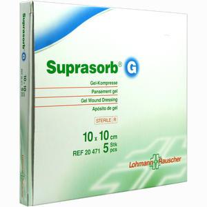 Abbildung von Suprasorb G Gelkompresse 10x10cm Kompressen 5 Stück